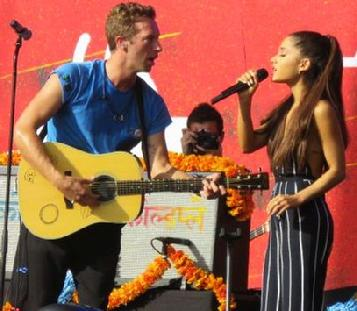 Cold play and Ariana Grande, City Media Access, NYC concert, concert listings New york city