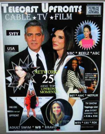 Telecast Upfronts Publication, NBC Universal, George Clooney, Katie Holmes, Warner Brothers red carpet, BET Upfront