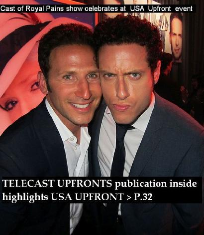 Royal Pains TV show cast, Telecast Upfronts, Telecast Upfronts publications, NBCUniversal Upfront event, USA upfront TV event